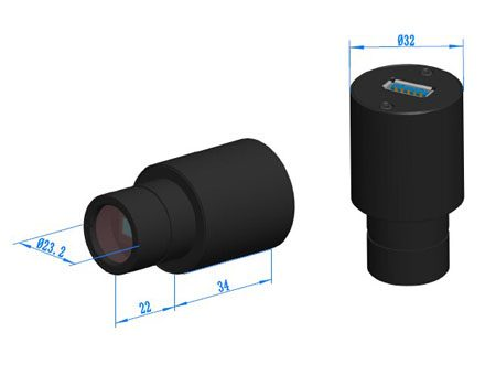 دوربین میکروسکوپ CCD 5 MP