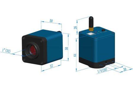 دوربین میکروسکوپ CCD 720P (HD) با قابلیت WiFi